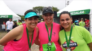 "As sempre super animadas meninas do ""The Running Mons"""